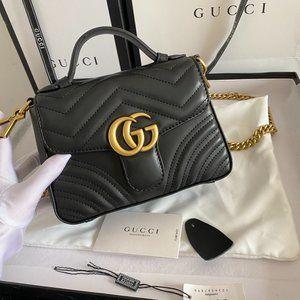 💋Gucci GG Marmont Mini Top Handle Bag 547260